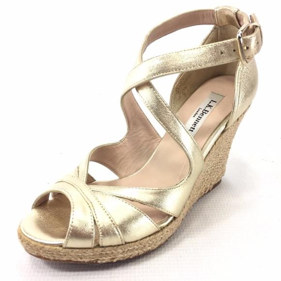 44fadda0c3f807 LK Bennett Shoes - L.K. BENNETT Juliette Wedge Sandals 6 Spain