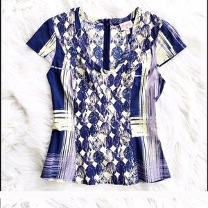 Plenty by Tracy Reese printed cap sleeve blouse