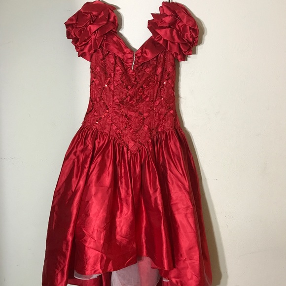 55c8897e4 Steppin' Out Dresses | Red Vintage 1980s Prom Dress1980s Formal ...