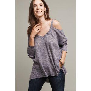 Anthropologie Millipa Open Shoulder Sweater