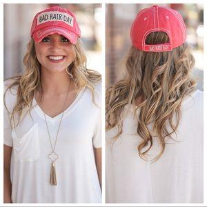 Bad Hair Day Ball Cap- Rose