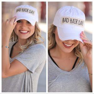 White Bad Hair Day Ball Cap
