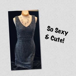 Cute, Fitted Gray Sequin Dress (Fits 4/6)