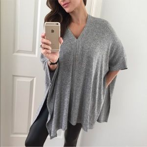 Sweaters - Soft Grey Poncho Top