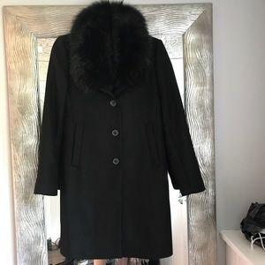 Zara black fur coat