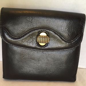Cole Haan Womens Black Leather Bifold Wallet