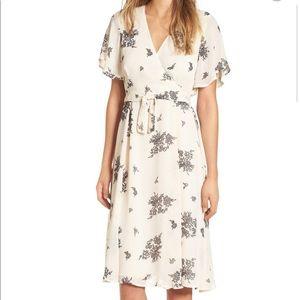 June & Hudson Floral Print Wrap Dress