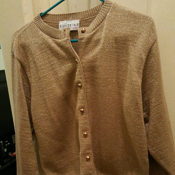 46% off Sweaters - Gold cardigan/sweater from Kerisha's closet on ...