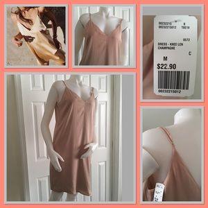 H&M nude slip dress NWT