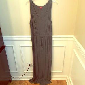 Merona Grey Cinch Waist Maxi Dress Jersey