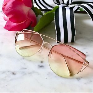 Accessories - 🎁2 for $24! Sunset Caged Brow Sunglasses