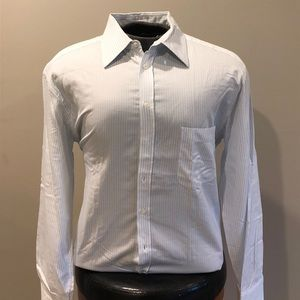 Giorgio Armani Striped Button Down Sz 17