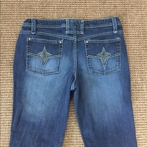 No Boundaries Nobo Star Flare Stretch Jeans  11J