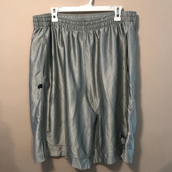 55173dd09da3 Air Jordan Other - Silver air Jordan lined men s basketball shorts