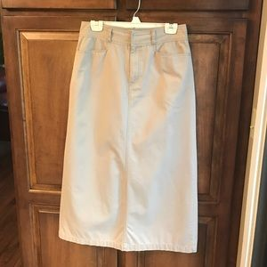 Khaki Maxi Skirt Size 8