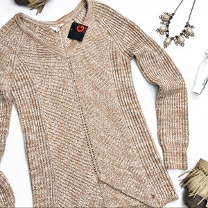 G by Guess Ivania V Neck Tunic Sweater