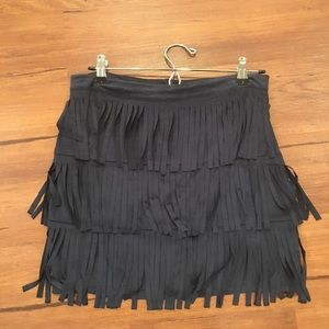 Romeo + Juliet Faux Suede Fringe Skirt Medium
