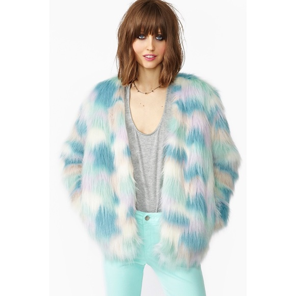 Nasty Gal Jackets & Blazers - Nasty Gal Faux Fur Coat