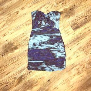 Nicole Miller waterfall tissue dress