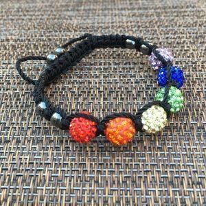Jewelry - 🛍 MAKE OFFER- Rainbow LGBT Shamballa Bracelet
