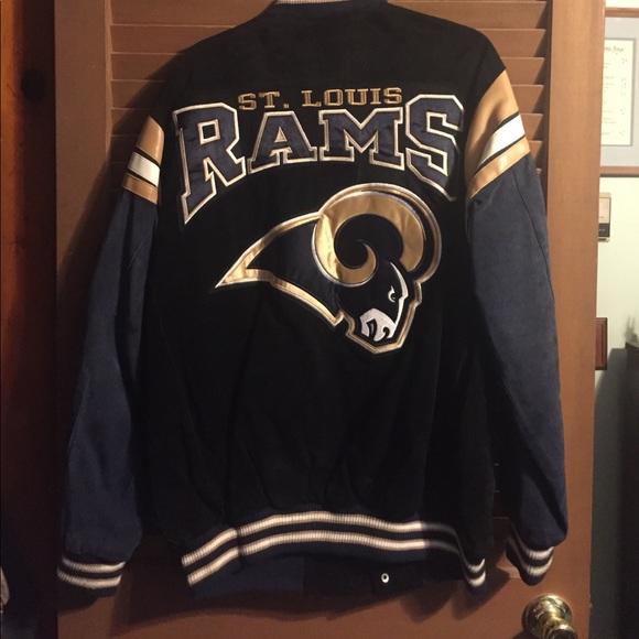 1e2eb958 Vintage St Louis Rams Varsity Jacket