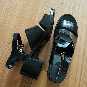 American Apparel Jelly Sandals in Black