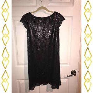 Black Sequined Nine West Dress