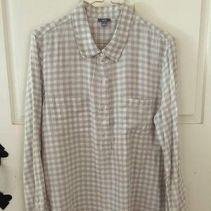 Flannel quarter button-down shirt