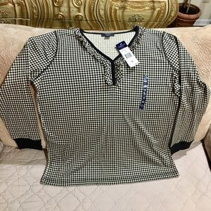 Chaps New w/tag 100%cotton Top