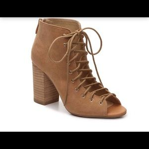 Chinese Laundry Open Toe Lace Up Bootie