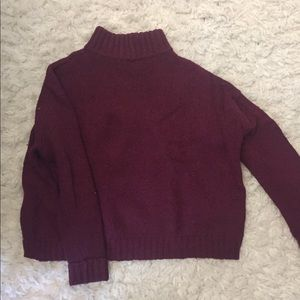 Maroon mock neck sweater