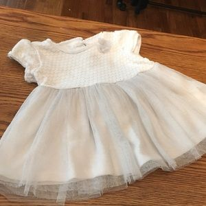 White and Silver Baby Dress