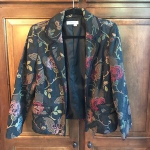 Coldwater Creek Brocade Jacket Size Petite Small