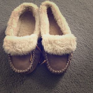 J.crew lodge moccasin slippers