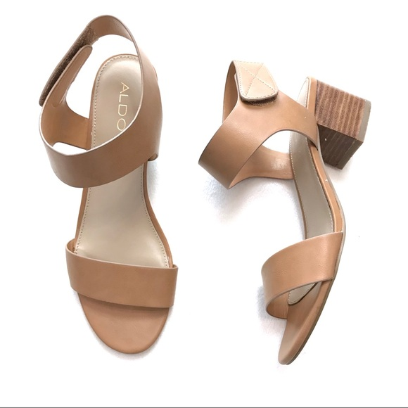 97c6dce33aa Aldo Shoes - Aldo Ankle Strap Chunky Low Heel Sandals