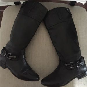 Dolce vita leather knee high black riding boots