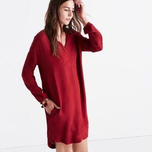 Madewell red tunic dress