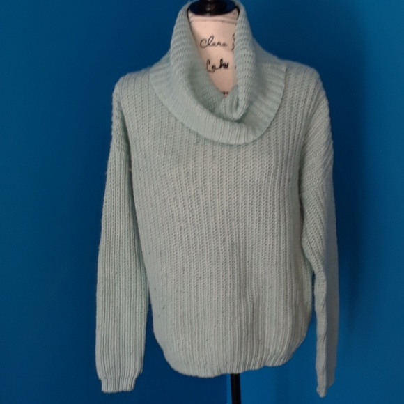 52% off Forever 21 Sweaters - Forever 21 Light blue Cowl neck ...