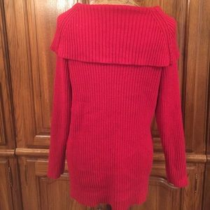 Style & Co Sweaters - Style & Co Woman Cowl Neckline Red Sweater
