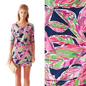 LILLY PULITZER cara dolmansleeve dress in the vias
