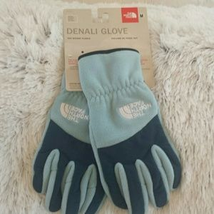North Face  Denali Gloves Blue Tide