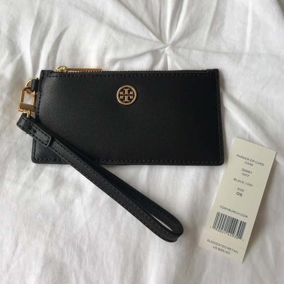 brand new 291e5 fa0e7 [Tory Burch] Parker Zip Card Case NWT