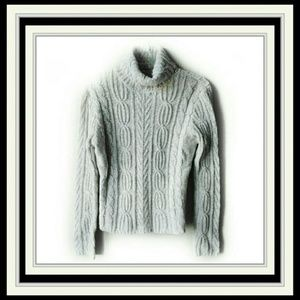 St. John's Bay Gray/White Turtleneck Sweater