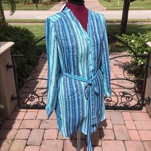 NWT COLLECTIVE CONCEPTS Multi Blue Print Dress - M