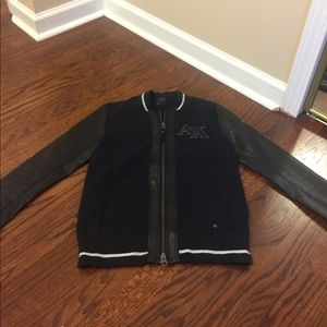 Armani Exchange black bomber jacket size S NWOT