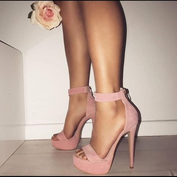 Etta Pink Suede Platform Heels | Poshmark
