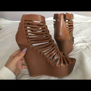 JUSTFAB Wedge Heels | Brown | size 6