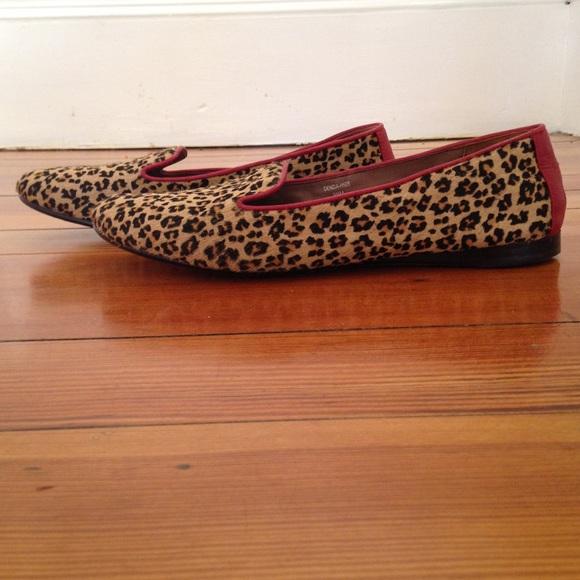 Donald J Pliner Leopard Flat Loafer Red