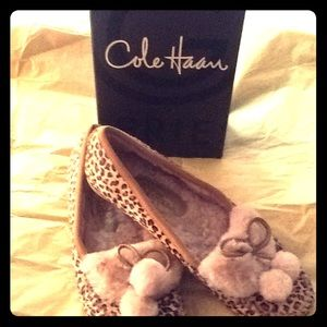 Cole Haan Animal Print Moccassins