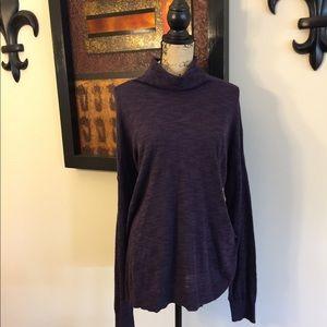 SOMOMA Purple Marled Turtleneck Sweater